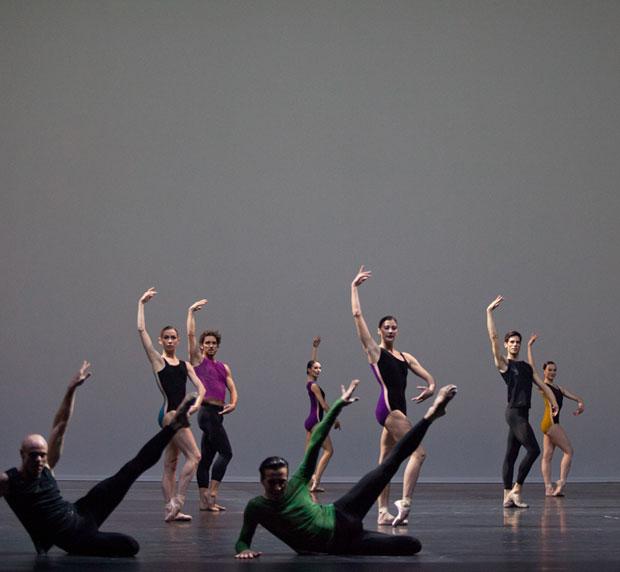 Paris Opera Ballet in <I>Pas./Parts</I>.<br />© Anne Deniau / Opéra national de Paris. (Click image for larger version)