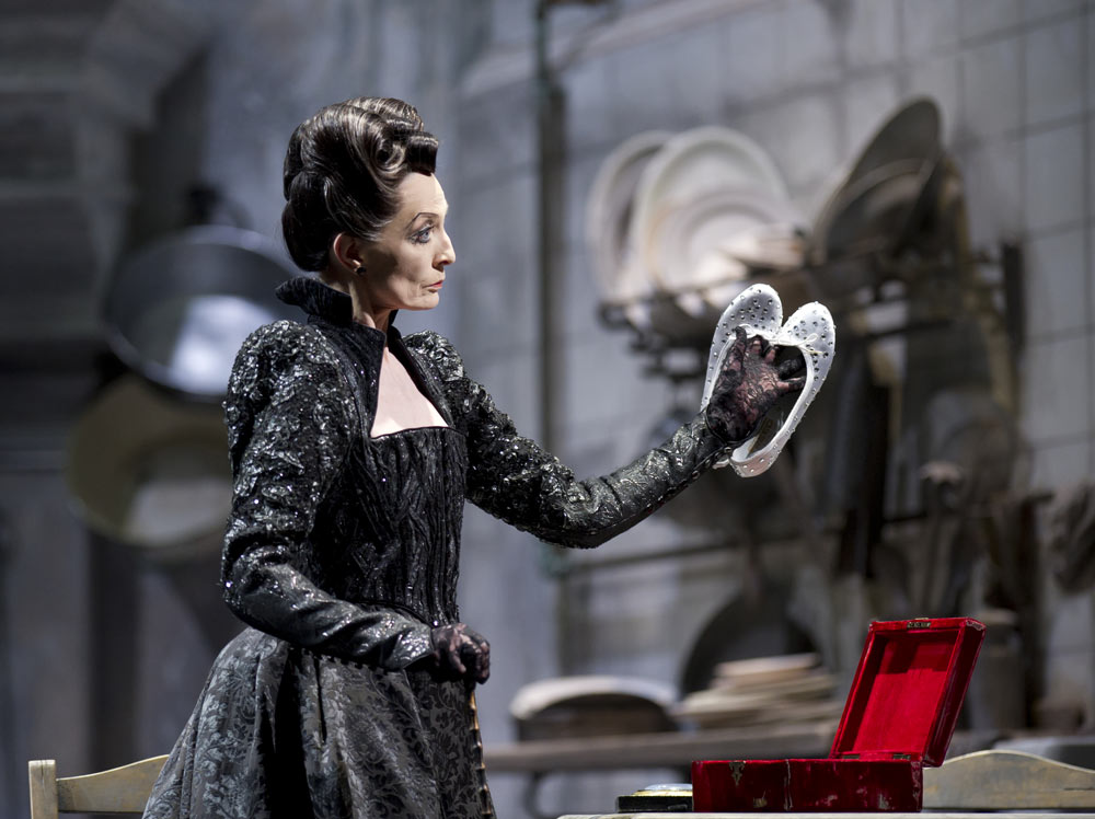 Marion Tait as Cinderella's Stepmother.<br />© Bill Cooper. (Click image for larger version)