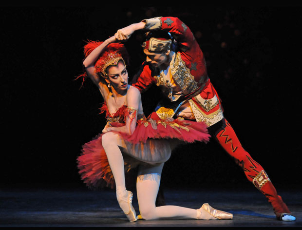 Mara Galeazzi and Edward Watson in <I>The Firebird</I>.<br />© Dave Morgan, by kind permission of the Royal Opera House. (Click image for larger version)