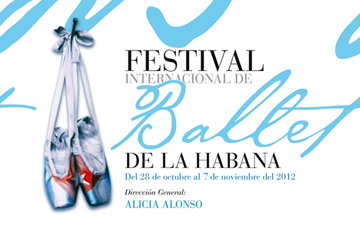 Poster image for the 2012 festival. © Festival Internacional de Ballet de La Habana 2012. (Click image for larger version)