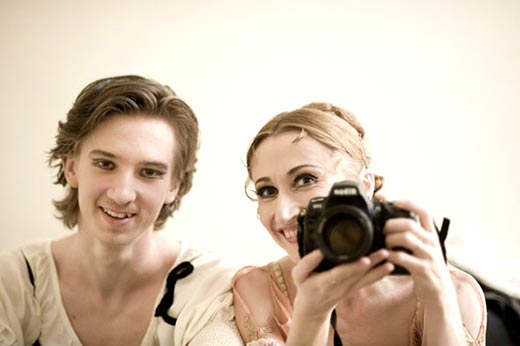 "Daria Klimentova and Vadim Muntagirov in the dressing room.<br />(from a 2011 <a href=""http://www.ballet.co.uk/2011/08/interview-with-vadim-muntagirov-english-national-ballet-principal/"">Balletco interview with Vadim</a>).<br />© Daria Klimentova."