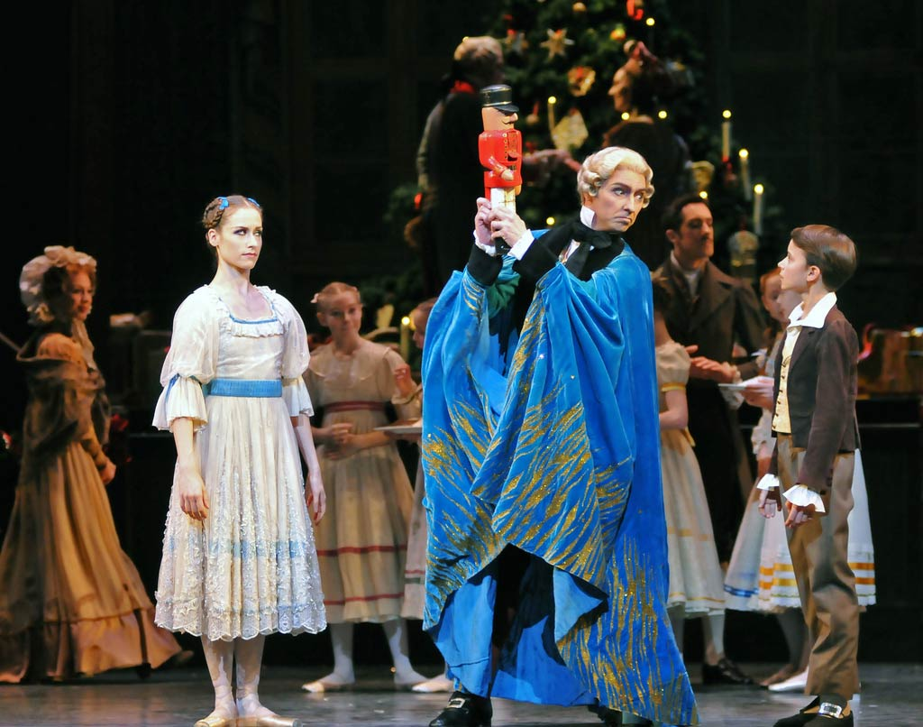 Emma-Jane Maguire, Bennet Gartside and Kyle Alexander in <I>The Nutcracker</I>.<br />© Dave Morgan, by kind permission of the Royal Opera House. (Click image for larger version)