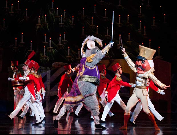Artists of Ballet West in <I>The Nutcracker</I> battle scene.<br />© Luke Isley.