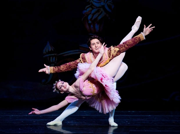 Christiana Bennett and Christopher Ruud in <I>The Nutcracker</I>.<br />© Luke Isley. (Click image for larger version)