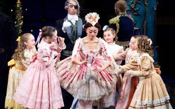 Artists of Ballet West in The Nutcracker party scene.© Luke Isley.