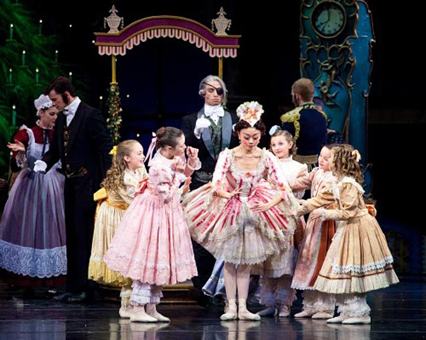 Artists of Ballet West in <I>The Nutcracker</I> party scene.<br />© Luke Isley.