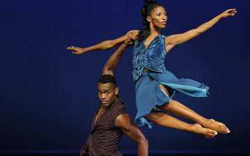 Jamar Roberts and Jacqueline Green in Kyle Abraham's Another Night.© Paul Kolnik. (Click image for larger version)