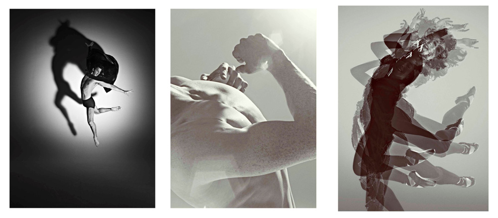Pictures, all by Rick Guest, l-r: Nehemiah Kish, Edward Watson, Laura Morera.© DRick Guest, by kind permission of the Royal Opera House. (Click image for larger version)