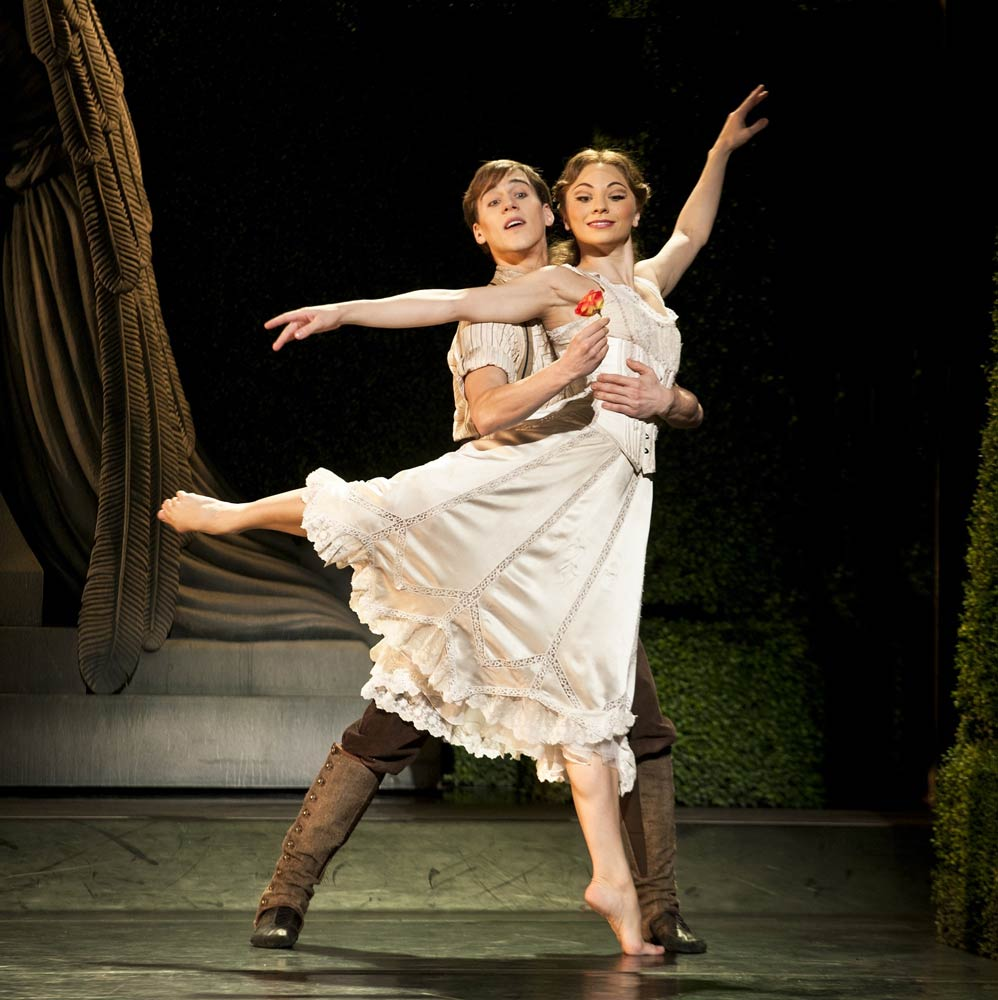 Dominic North as Leo and Hannah Vassallo as Aurora in Matthew Bourne's <I>Sleeping Beauty</I>.<br />© Simon Annand. (Click image for larger version)