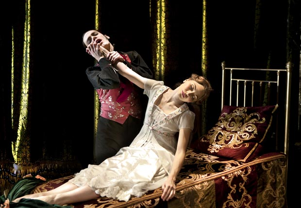 Hannah Vassallo as Aurora in Matthew Bourne's <I>Sleeping Beauty</I>.<br />© Simon Annand. (Click image for larger version)
