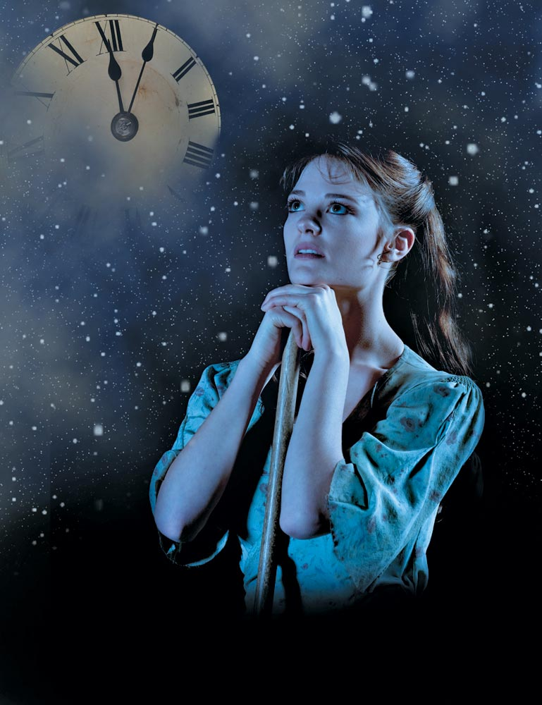 Poster image with Delia Matthews as Cinderella.© Tim Cross. (Click image for larger version)