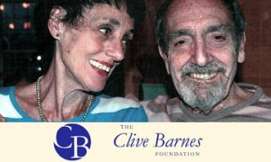 Valerie and Clive Barnes with foundation logo.© Valerie Taylor-Barnes.
