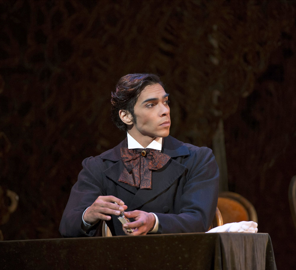 Jason Reilly in <I>Onegin</I>.<br />© Bill Cooper, by kind permission of the Royal Opera House. (Click image for larger version)