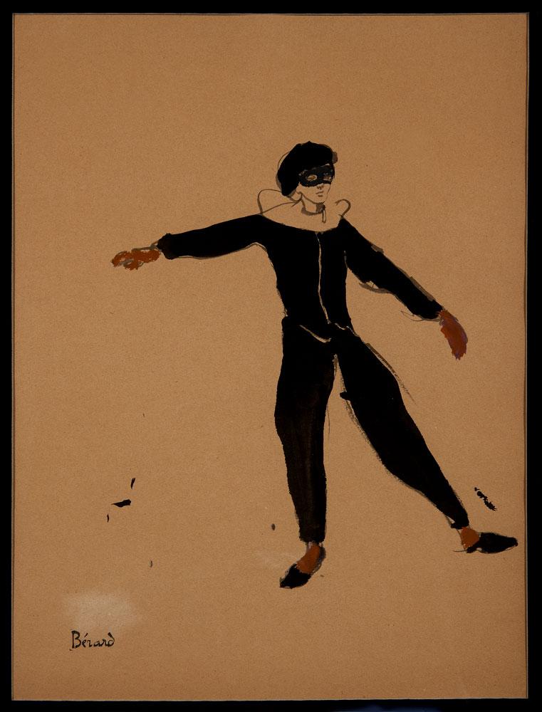 Christian Bérard: Costume Design for Pierrot. © Christian Bérard, courtesy Mikhail Baryshnikov and ABA Gallery. (Click image for larger version)