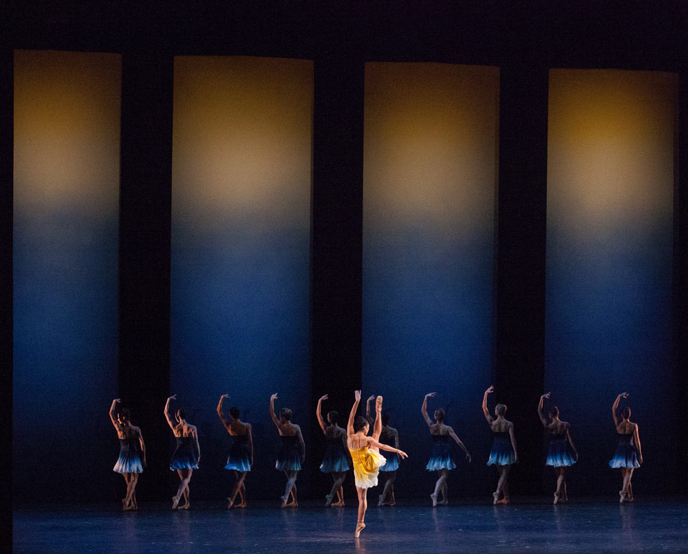 Miami City Ballet dancers in the world premiere of Liam Scarlett's <I>Euphotic</I>.<br />© Daniel Azoulay. (Click image for larger version)