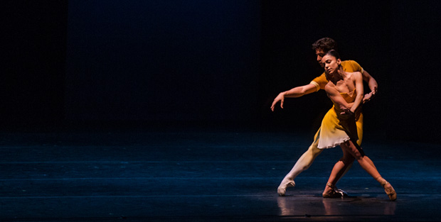 Jeanette Delgado & Kleber Rebello in the world premiere of Liam Scarlett's Euphotic.© Daniel Azoulay. (Click image for larger version)