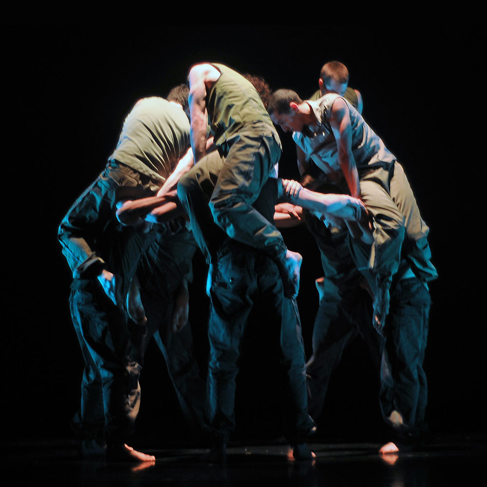 BalletBoyz The Talent 2013 perform Russell Maliphant's <I>Fallen</I>.<br />© Dave Morgan. (Click image for larger version)