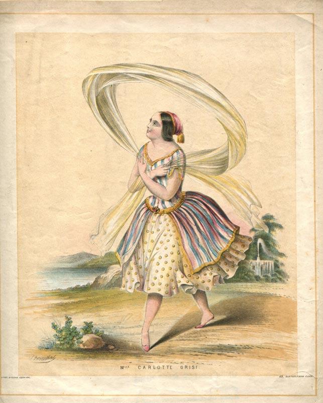Carlotta Grisi poster.<br />© Courtesy of the Derra de Moroda Dance Archives, Salzburg.