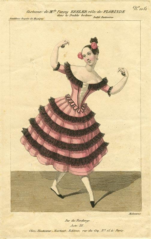 Fanny Elssler poster.<br />© Courtesy of the Derra de Moroda Dance Archives, Salzburg.