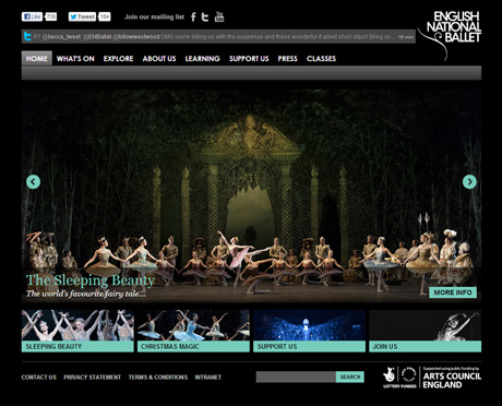 "For posterity here is the old English National Ballet website at <a href=""http://www.ballet.org.uk"">www.ballet.org.uk</a><br />© English National Ballet. (Click image for larger version)"