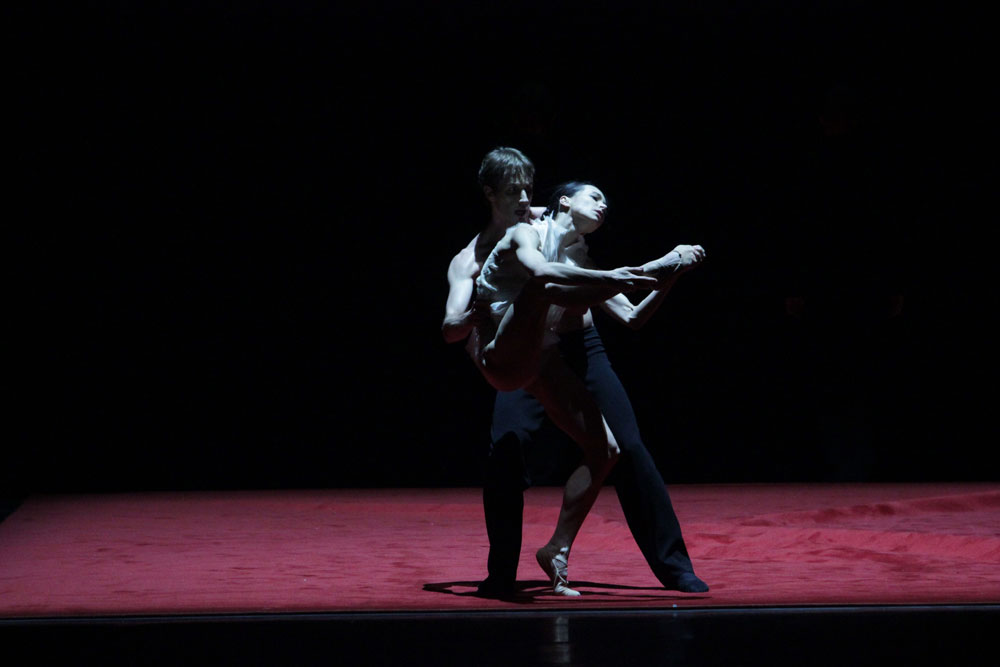Diana Vishneva and Andrei Merkuriev in <I>Subject to Change</I>.<br />© Natasha Razina. (Click image for larger version)
