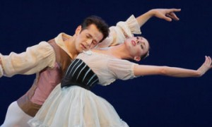 Tiler Peck and Robert Fairchild in Divertimento from 'Baiser de la Fée'.© Paul Kolnik. (Click image for larger version)