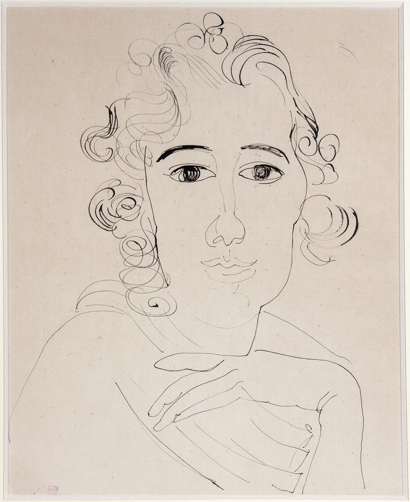 Raoul Dufy: <I>Portrait de Femme</I>. © Raoul Dufy, courtesy Mikhail Baryshnikov and ABA Gallery. (Click image for larger version)