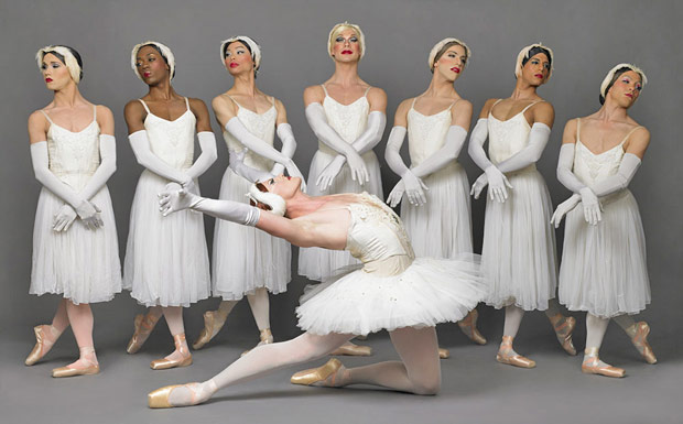 Trocks in <I>Swan Lake Act 2</I>.<br />© Sascha Vaughan. (Click image for larger version)
