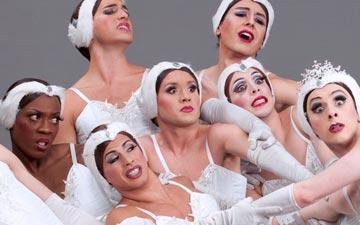 Les Ballets Trockadero de Monte Carlo in Swan Lake.© Sascha Vaughan. (Click image for larger version)