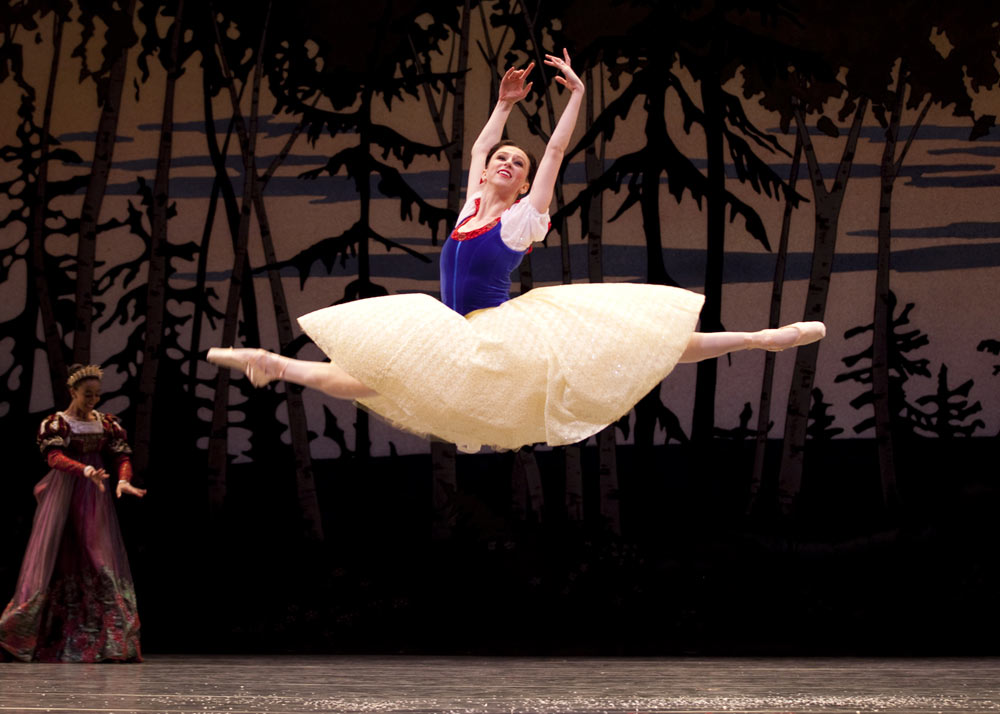 Pacific Northwest Ballet School professional division student Elle Macy in Bruce Wells' <I>Snow White</I>.<br />© Angela Sterling. (Click image for larger version)