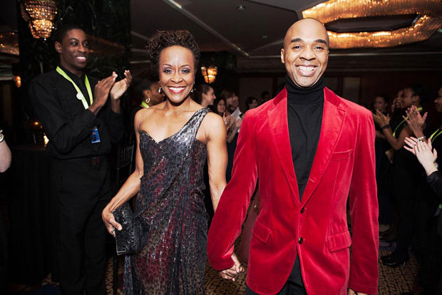 Renee Robinson and Matthew Rushing at the 2012 Opening Night Gala.<br />© Dario Calmese. (Click image for larger version)
