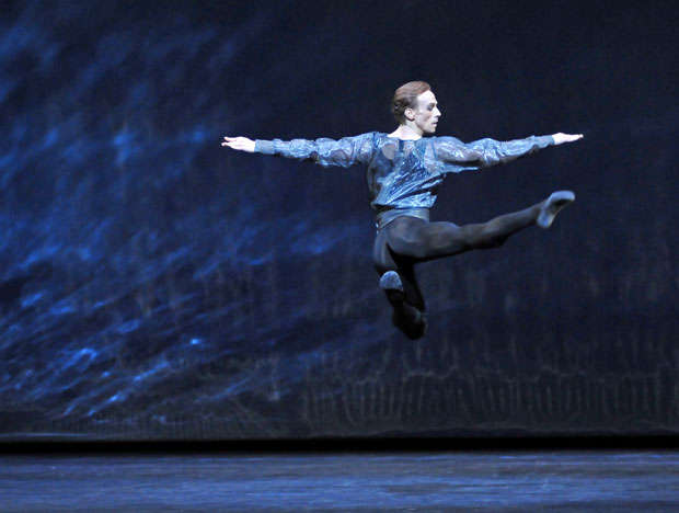 Edward Watson in Alexei Ratmansky's <I>24 Preludes</I>.<br />© Dave Morgan, by kind permission of the Royal Opera House. (Click image for larger version)