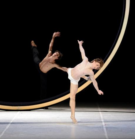 Alexandre Riabko and Aleix Martínez in Neumeier's <I>Nijinsky</I>.<br />© Erik Tomasson. (Click image for larger version)