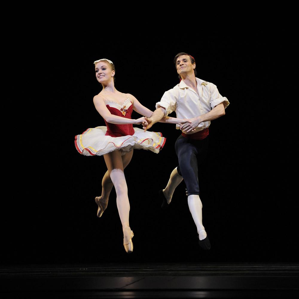 Sasha De Sola and Pascal Molat in Balanchine's <I>Tarantella</I>.<br />© Erik Tomasson. (Click image for larger version)