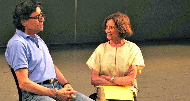 Nancy Reynolds interviewing Edward Villella about <I>Tarantella</I> and <I>Rubies</I>, GBF Video Archives, 2008.<br />© Nancy Reynolds. (Click image for larger version)