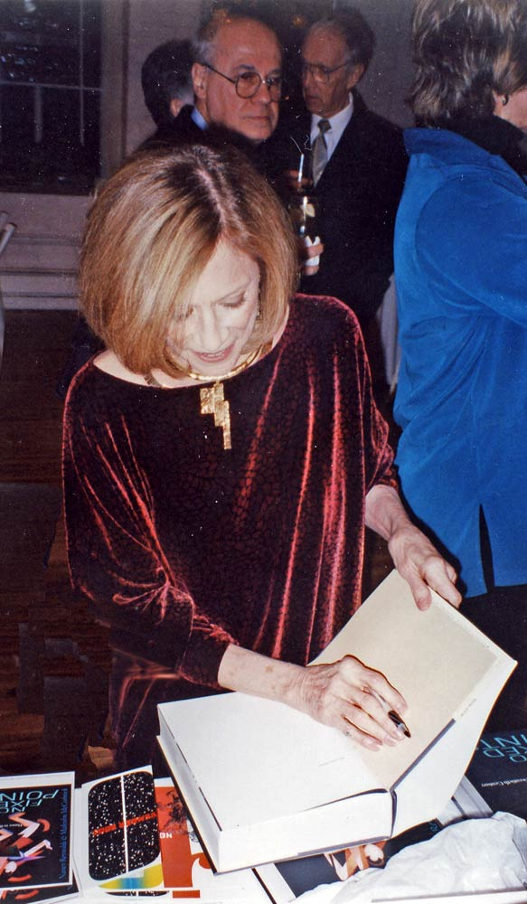 Book signing party for <I>No Fixed Points</I>, 2003.<br />© Nancy Reynolds. (Click image for larger version)