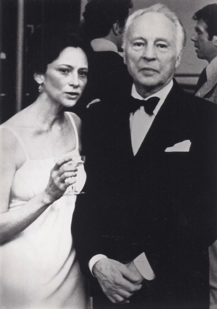 Publication party for <I>Repertory in Review</I> with Balanchine, 1977.<br />© Nancy Reynolds. (Click image for larger version)