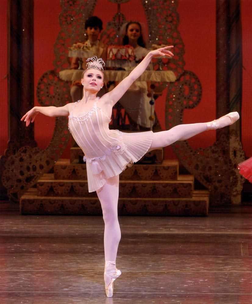 Sara Mearns in George Balanchine's <I>The Nutcracker</I>.<br />© Paul Kolnik. (Click image for larger version)