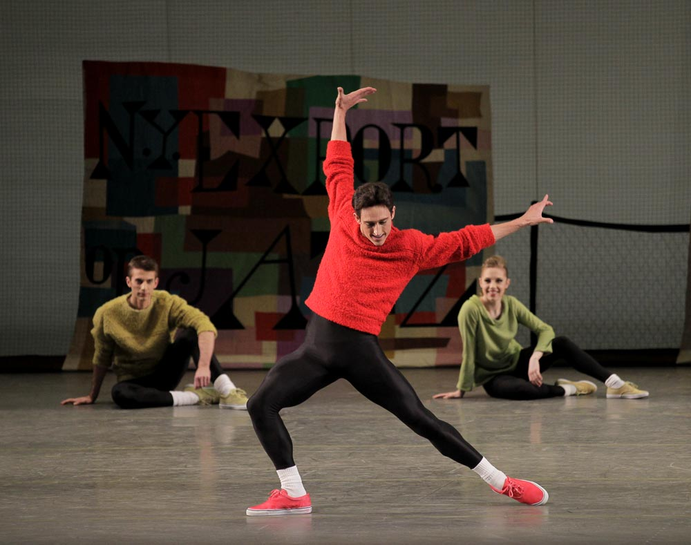 Justin Peck in <I>N.Y. Export: Opus Jazz</I> by Jerome Robbins.<br />© Paul Kolnik. (Click image for larger version)