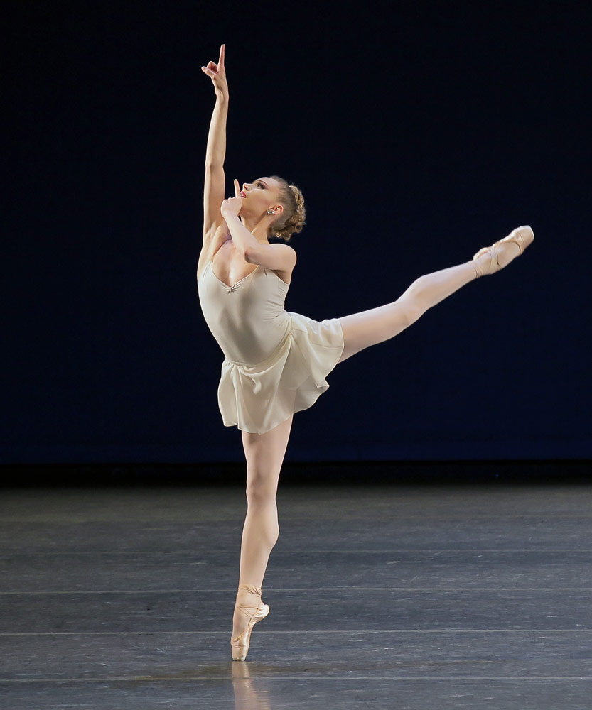 Sara Mearns in <I>Apollo</I>.<br />© Paul Kolnik. (Click image for larger version)