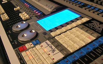 Lighting control desk.Creative Commons image from Flickr. By Rob Sayer, On Stage Lighting (original image)