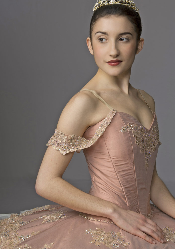 Front cover of the programme – Léa Bridarolli in Florestan Pas de Trois from Act 3 <I>The Sleeping Beauty</I>.<br />© Bill Cooper. (Click image for larger version)