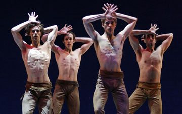 The Royal Danish Ballet in Jose Limon's The Unsung.© Costin Radu. (Click image for larger version)