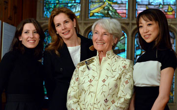 NEBT Patrons: Mara Galeazzi, Darcey Bussell, Anya Sainsbury and Erina Takahashi.© Dave Morgan. (Click image for larger version)