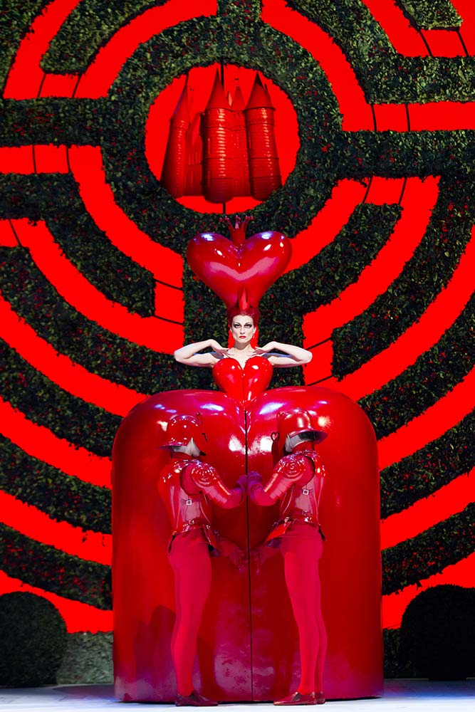 Zenaida Yanowsky as the Queen of Hearts in <I>Alice's Adventures in Wonderland</I>.<br />© Johan Persson, courtesy the Royal Opera House. (Click image for larger version)