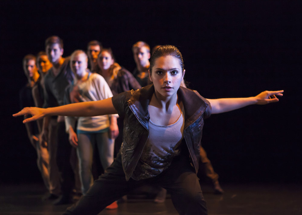 Scottish Dance Theatre in Victor Quijada's <I>Second Coming</I>.<br />© Maria Falconer. (Click image for larger version