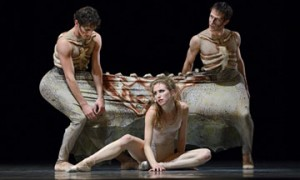 Jennifer Stahl, Garen Scribner and James Sofranko in Possokhov's The Rite of Spring.© Erik Tomasson. (Click image for larger version)