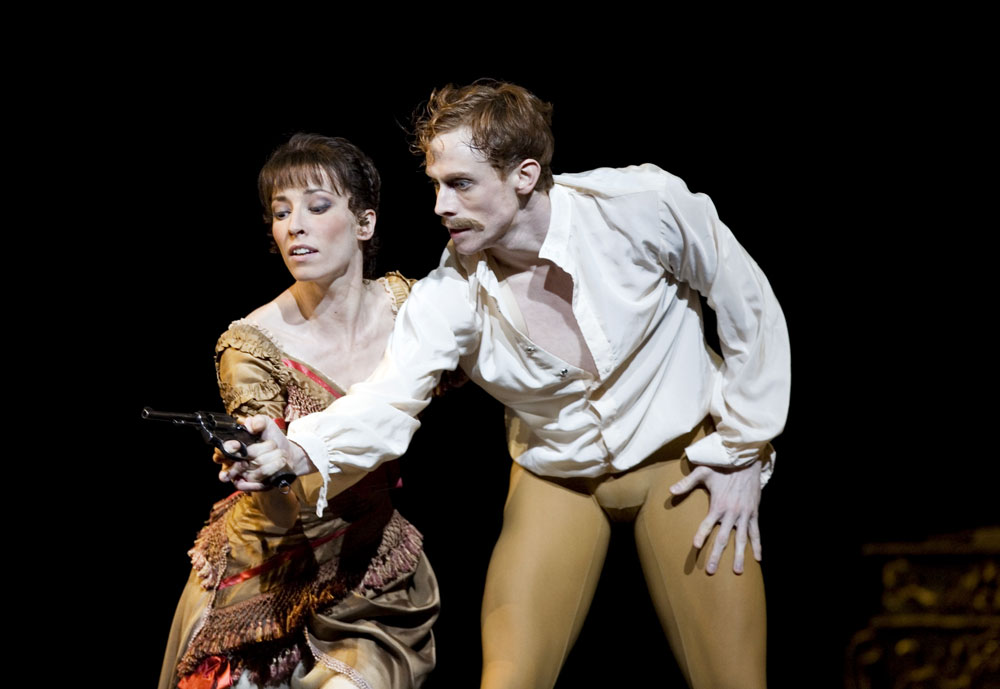Mara Galeazzi and Edward Watson as Baroness Mary Vetsera and Crown Prince Rudolf of Hungary in The Royal Ballet's Mayerling.© ROH / Bill Cooper, 2009. (Click image for larger version)