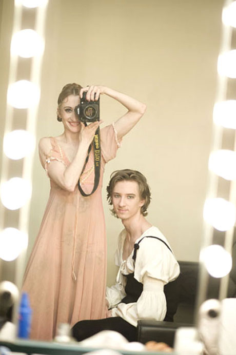 Daria and Vadim in the dressing room.<br />© Daria Klimentova.