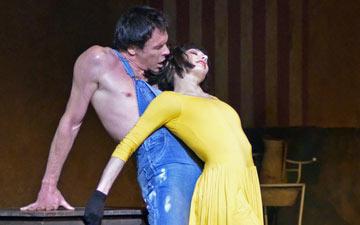 Nicolas Le Riche and Tamara Rojo in Le jeune homme et la mort.© Dave Morgan. (Click image for larger version)